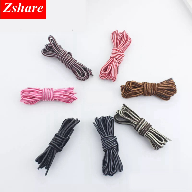 1Pair Stripe Round Shoelaces Outdoor Sport Shoelace hiking slip rope Shoe lace Men Women sneaker laces strings TW1