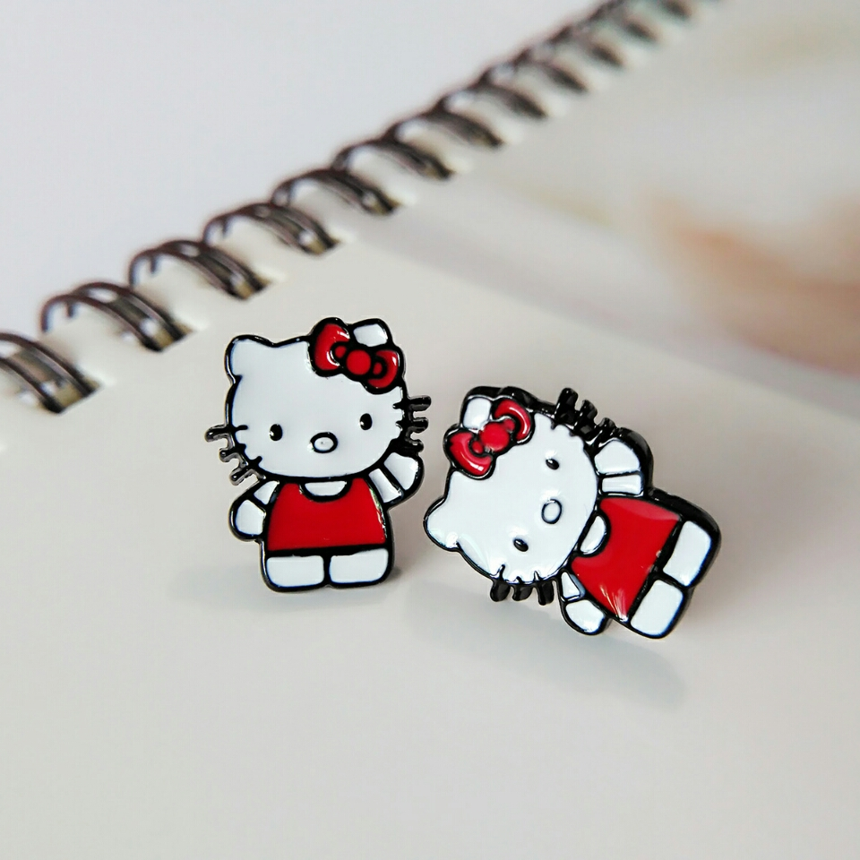 Yesmile Hello Kitty Cute Little Cat Stud Kids Earrings Cartoon Fashion  Jewelry Accessories Gift For Children