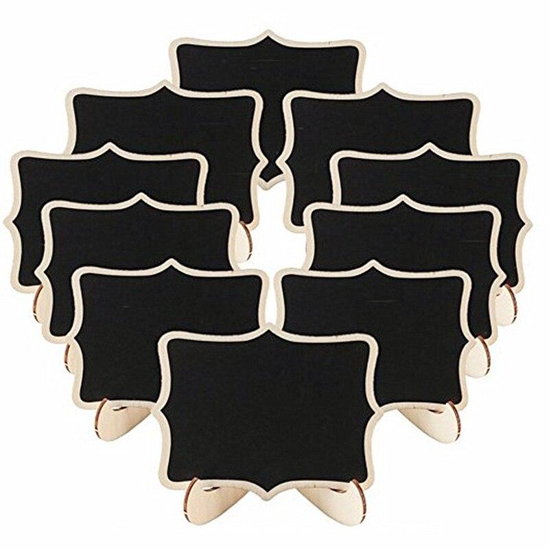 30 pcs lote vintage 6 estilos de madeira pequena quadro clipe blackboard numero da tabela festa