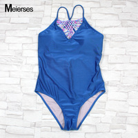 MEIERSES Women S Crochet High Neck One Piece Bikini Set Sexy Shimmer Fabric Sports Swimming Wear