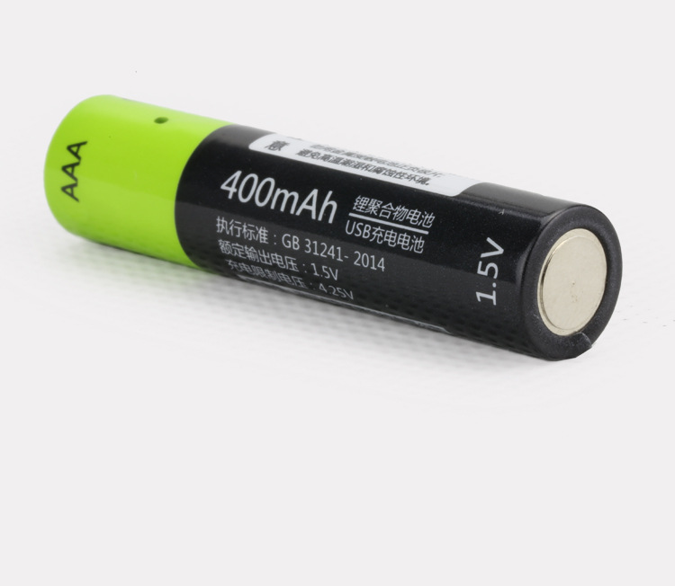 Cncool 6pcs lot 1 5V AAA 400mah li polymer li ion lithium rechargeable battery USB battery with USB charging line in Rechargeable Batteries from Consumer Electronics
