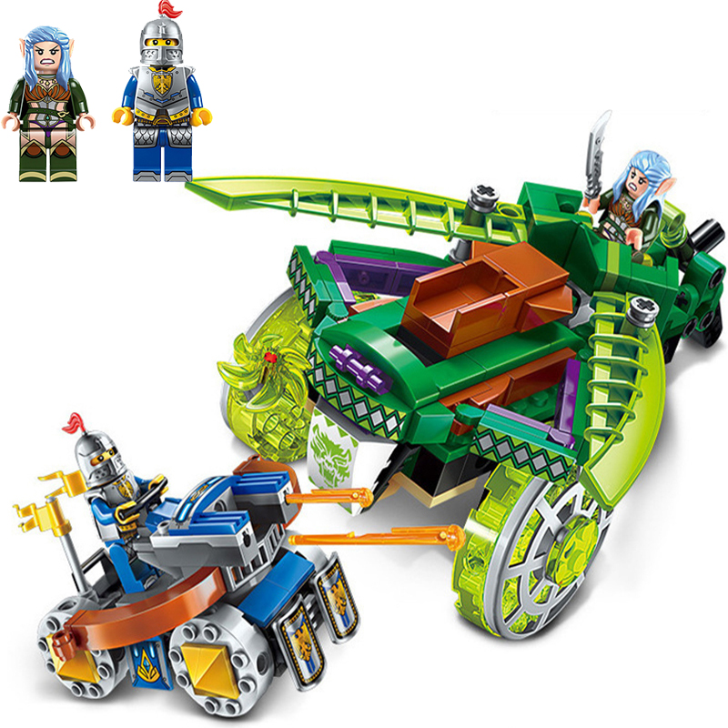 2018 New Building Block War Castle Knights Confrontation Figures 250pcs Educational Bricks Toy Boy Gift Legoings