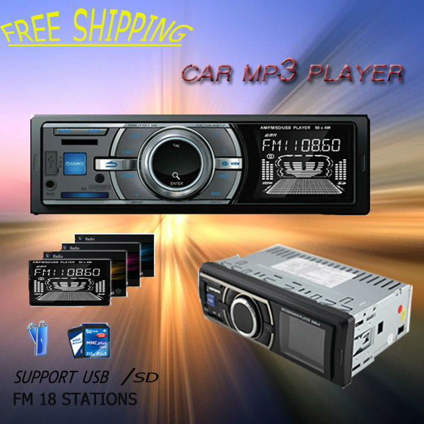 Free Shipping Car Radio Player Mp3 Player In Dash Fix Panel With FM Transmiter