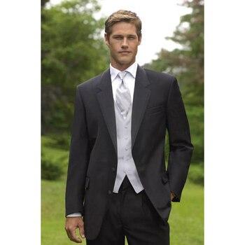 2018 ternos masculino black lapel groom mens suits ternos dresses 2017 best man best men suit men's wedding dress costume homme