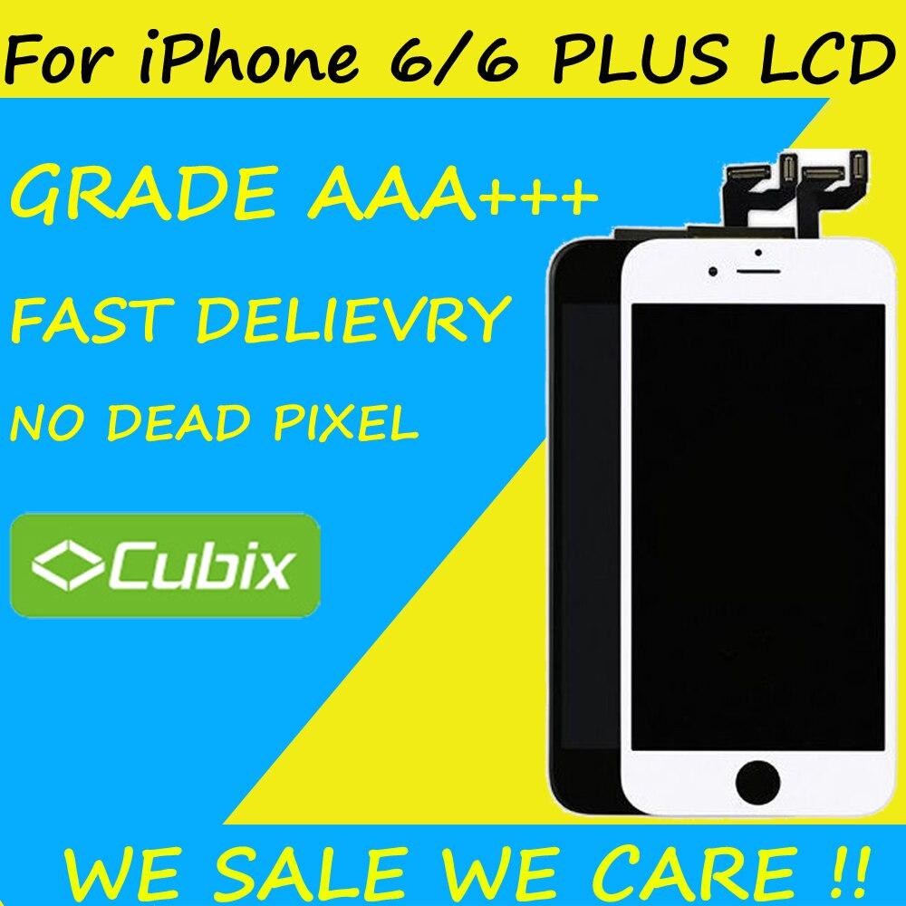 Haute Qualité AAAA Aucun Pixel Mort D'affichage Pour Apple iPhone 6 S 6 plus 7/7 plus LCD Écran Tactile de Remplacement Avec Digitizer