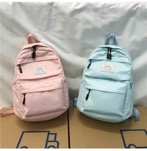 HTB1Tq02XFP7gK0jSZFjq6A5aXXaI Nylon Backpack Women Backpack Solid Color Travel Bag Large Shoulder Bag For Teenage Girl Student School Bag Bagpack Rucksack