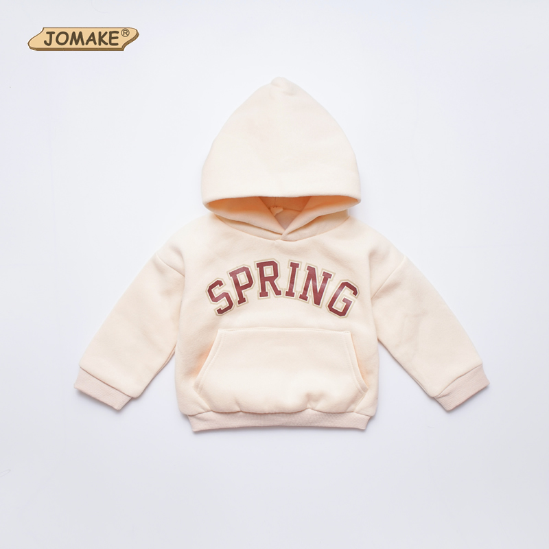 JOMAKE Girls Hoodies 2018 New Winter Brand Kids Clothes Letter Printing Baby Fleece Hooded Sweatshirts Casual Children Clothing