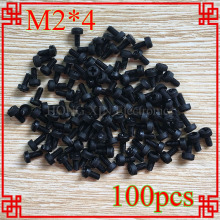 100PCS M2*4black nylon phillips round pan head screw diameter 2mm length 4mm Plastic