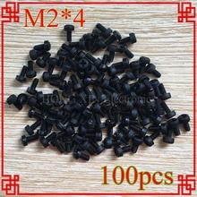 100PCS M2*4black nylon phillips round pan head screw diameter 2mm length 4mm Plastic screw 100pcs lot black plastic nylon m2 m2 5 m3 m4 round pan phillips head screw bolt