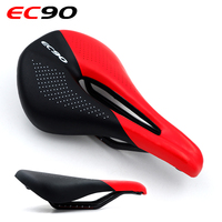 EC90 Carbon Fiber Bike Saddle MTB Road Cycling Seats 143mm Wide Power Pro Bicycle Racing Saddle Cycling Parts Black White Yellow