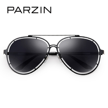PARZIN Brand Polarized Sunglasses For Driving Creative Hollow Alloy Frame Aviator Sunglasses Quality Eyewear Accessories 8106