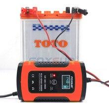 FOXSUR Caricabatterie Completamente Automatico 110 v/220 v 12 v 5A Smart Veloce Ricarica di Potenza, smart Caricatore di Batteria al Piombo