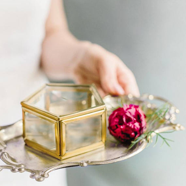 Aliexpress buy wedding ring box ring bearer box geometric wedding ring box ring bearer box geometric ring box geometric glass box junglespirit Image collections
