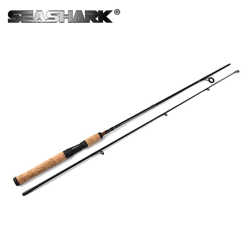SEASHARK Spinning Rod 60 6-12lb Line weight 1.8m Acation Medium Ultralight Carbon Lure Fishing Rod