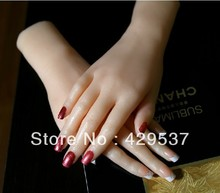 Top Quality Solid Silicone Woman Hands Sexy Woman Hands with Nail Model font b Sex b