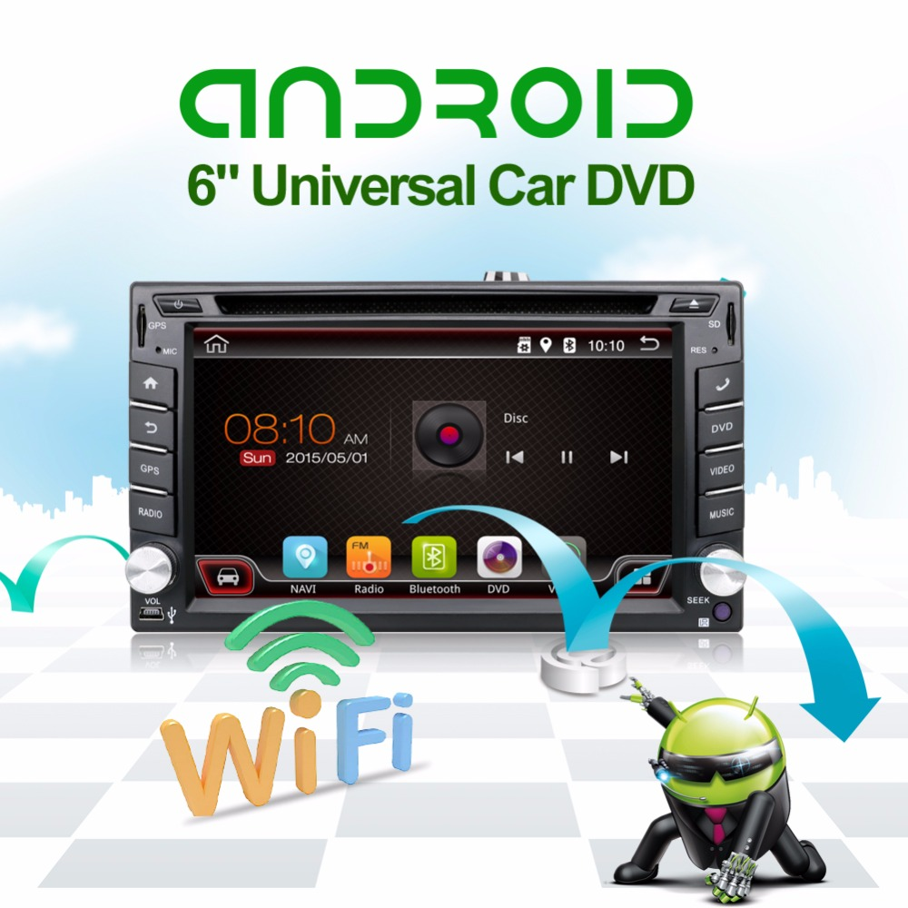 2 din android 4.4 car dvd player gps navigation Car radio with screen in dash map card+ Rear view camera16G
