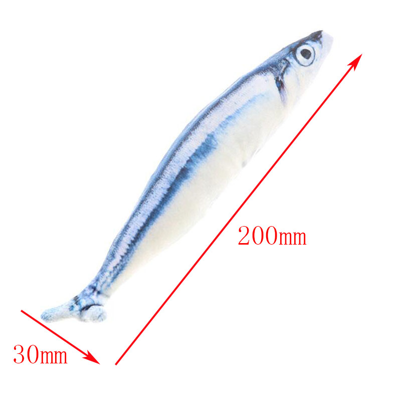 Plush Creative 3D Squid Fish Styling Cat Toy As A Gift Cute Plush Simulation Fish Pillow Cat Mint Fish Funny Cat Toy Baby Doll 5