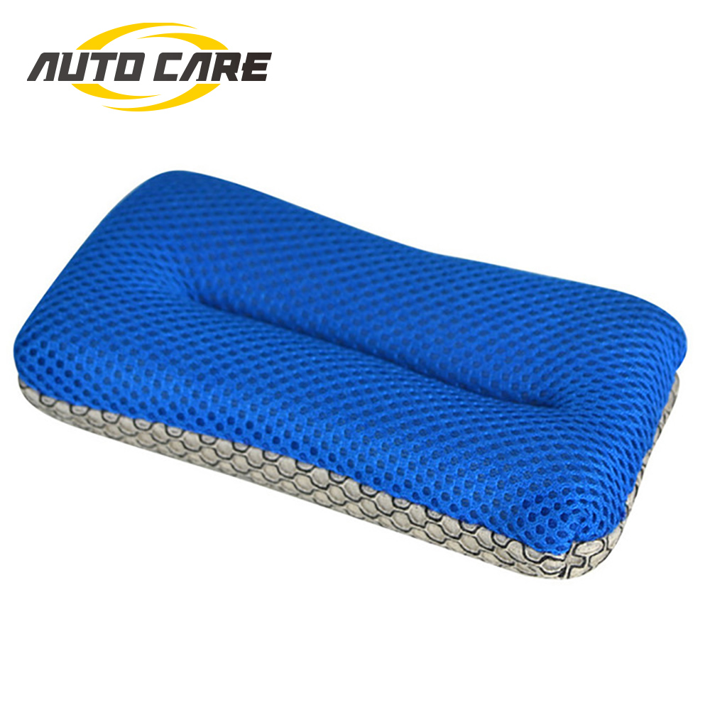 2 Sided Microfiber Mesh Bug Sponge Glass Cleaning Pad Bug And Tar Glass Mirror Windshield No Scratch