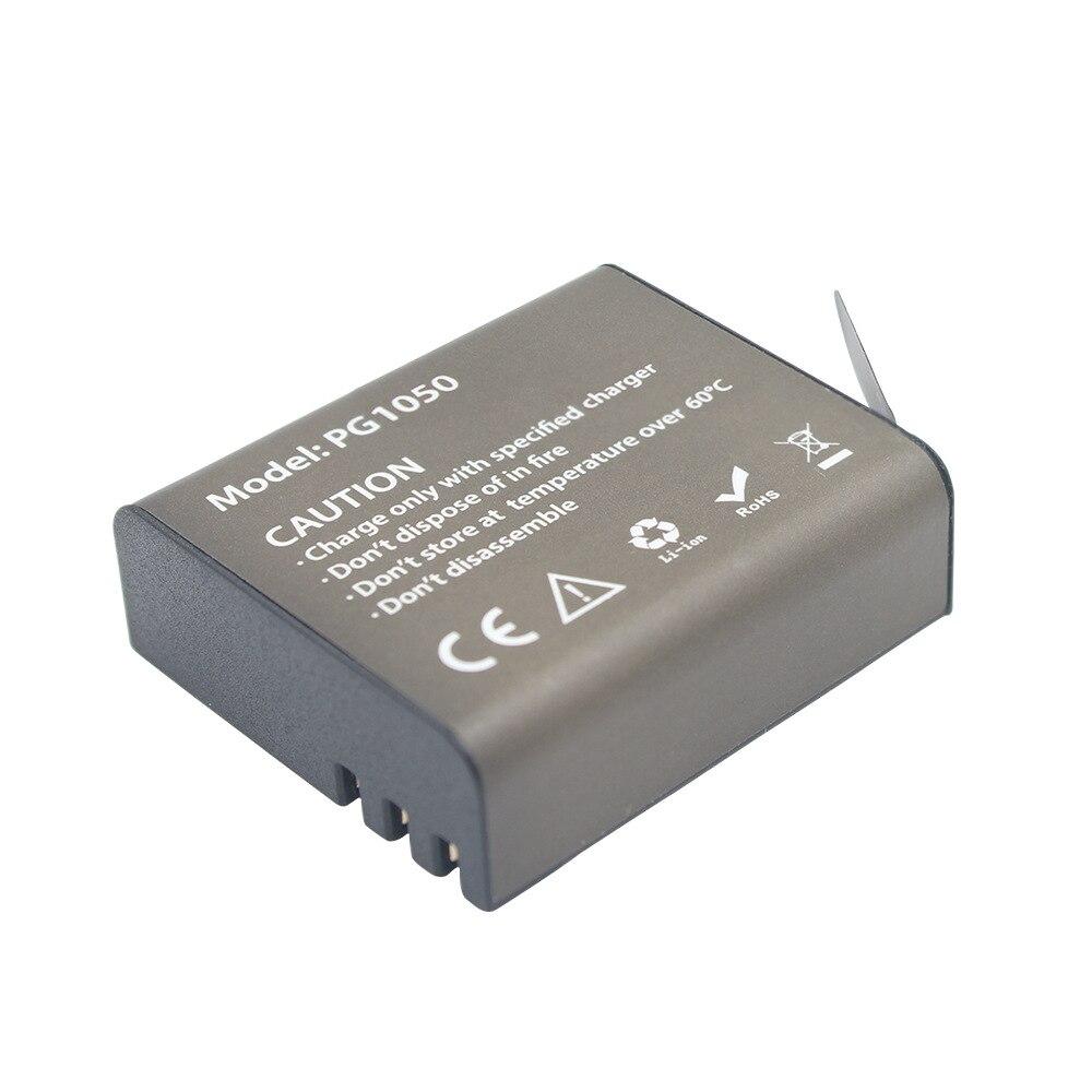 4 шт. X 1050 мАч PG1050 батарея для камеры + двойное зарядное устройство для eken H9 H9R H3R H8R H8PRO H8 SJ4000 SJ5000 M10 Аккумулятор для экшн-камеры