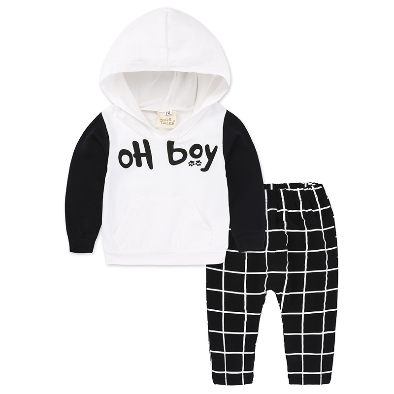 New Arrived Soft cotton Hoodies Set Baby boy Clothing Litter Child clothes sport suit infant boy sweatshirt with hat outerwear цены