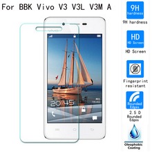 Tempered Glass For BBK Vivo V3 V3L V3M A zero.2mm 9H premium Explosion Proof Toughen Glass display screen protector movie For Vivo V3