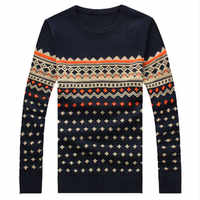 M-5XL automne hiver pull hommes tricot noël chandail hommes marque 2017 élégant pulls hommes chandails avec cerf pull homme marque