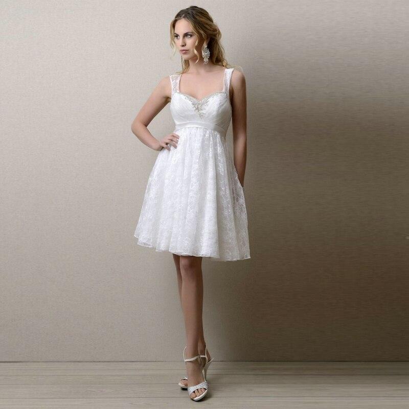 Vestido De Noiva Curto Renda Delicate Lace Short Wedding