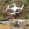Telesin alargado mayor landing skid landing gear protector de cardán para dji quadcopter drones phantom3 estabilizadores