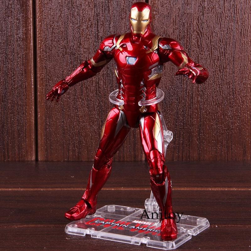 Marvel Avengers Toys Captain American Civil War Iron Man Action Figure PVC Collectible Model Toy 17.5cm 1