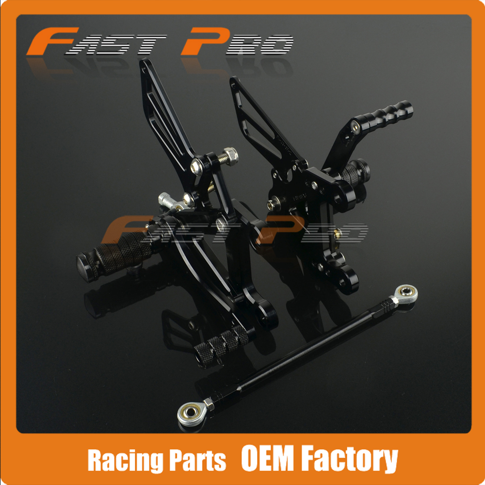 CNC Motorcycle Adjustable Billet Foot Pegs Pedals Rest For KAWASAKI ZX6R ZX-6R ZX 6R 2003 2004 03 04 330 6r