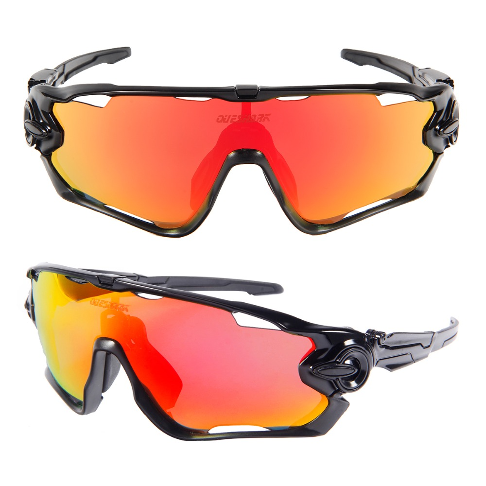 Queshark Professional 2018 New Arrival 5 Lens/Set Polarized Fishing Glasses Bike Goggles Racing Eyewear Outdoor Sport Sunglasses