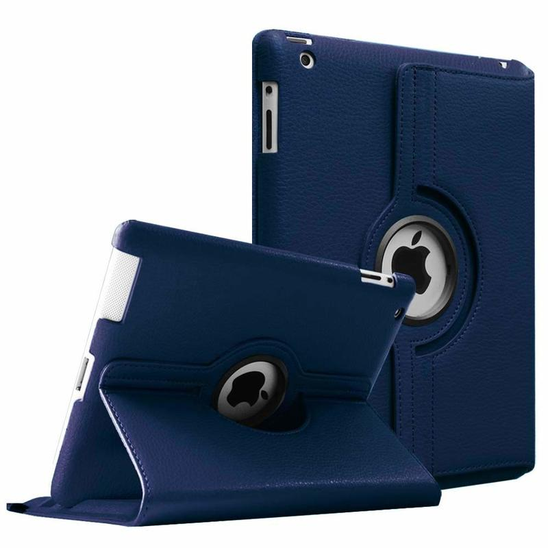 360 Degrees Rotating Flip PU Leather Case Cover for iPad 2 3 4 Smart Tablet Auto Sleep/Wake Stand Holder Cases A1395 A1460 A1430