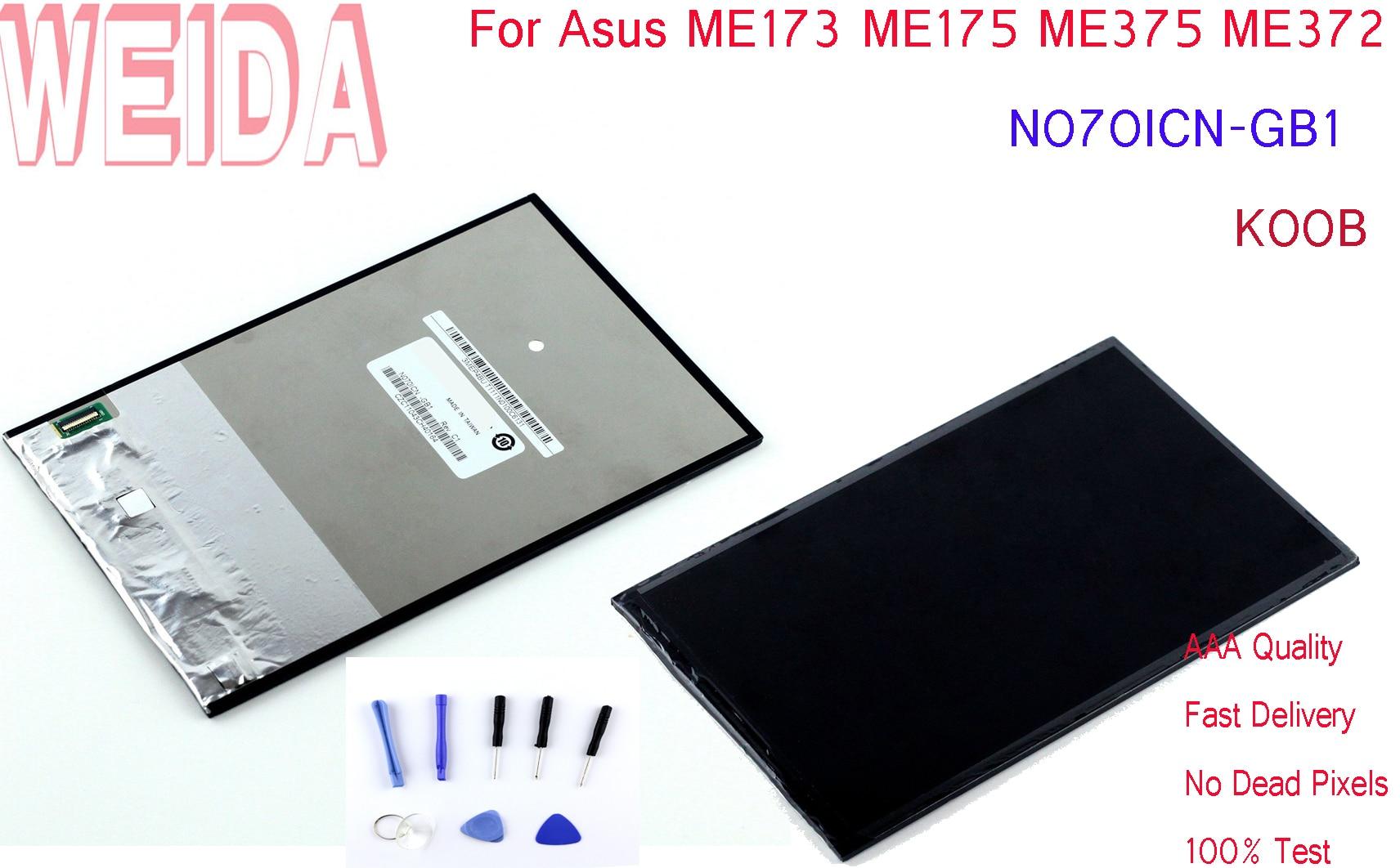 WEIDA N070ICN-GB1 LCD Display Replacement Parts For Asus ME173 ME175 ME375 ME372 /ME173 K00B 1280*800