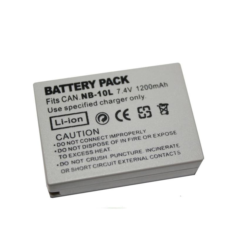 1200mAh For Canon NB-10L NB10L Digital camera battery SX40 HS