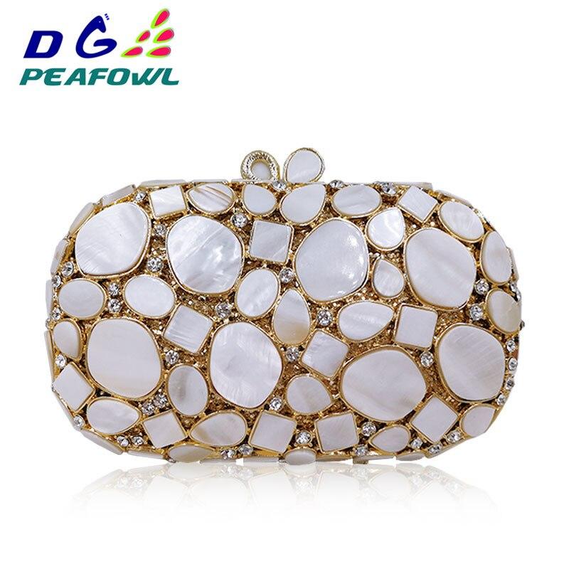 Marbre blanc pierre métallique moraillon femmes Sublimation portefeuille pochette de mariage jour paquet Bolsa Feminina sac de soirée