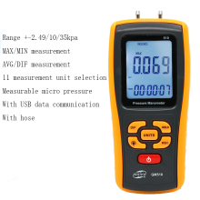 Digital differential pressure gauge,  wind air digital gauge