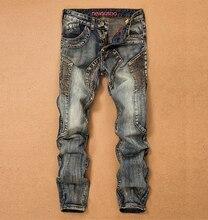 Новый мужской ретро прилив джинсы штаны мальчик hip hop джаз мода slim джинсы личности брюки для певица танцор Корейской стиль