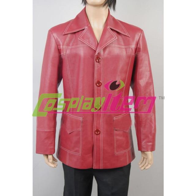 Cheap Customized Tyler Durden Brad Pitt Red Leather Jacket Movie