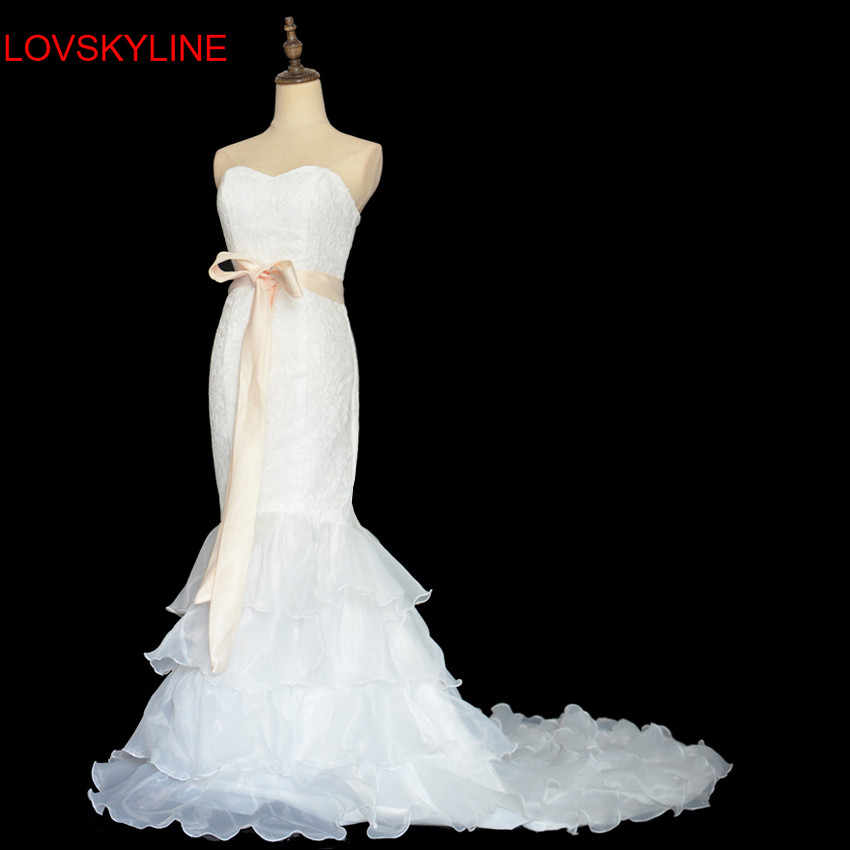 41afc44e67733 Fish tail wedding dress 2018 summer slim hip bandage tube top short  trailing the bride wedding dress