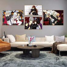 Custom Vampire Knight Home Decor Canvas Printing Silk Fabric Print Wall Poster No Frame 180317