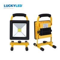 LUCKYLED Ultrathin Led Flood Light 10W 20W Waterproof IP65 Rechargeable Portable Spotlight Floodlight Lamp Camping Light