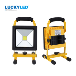 LUCKYLED ultrathin led flood light 10W 20W Waterproof IP65 rechargeable portable Spotlight Floodlight lamp camping light