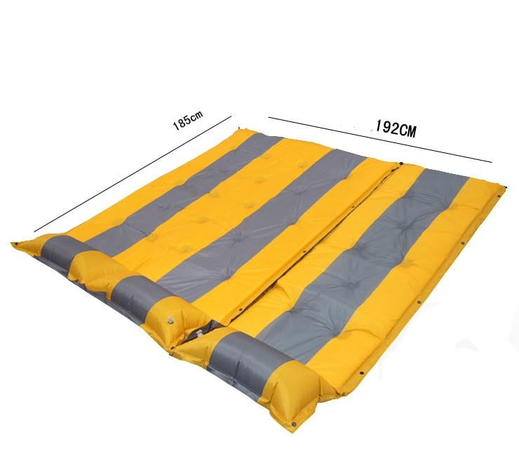 베개와 함께 방수 편안한 캠핑 야외 매트를 넓힌 고품질 3 명이 도착했습니다.
