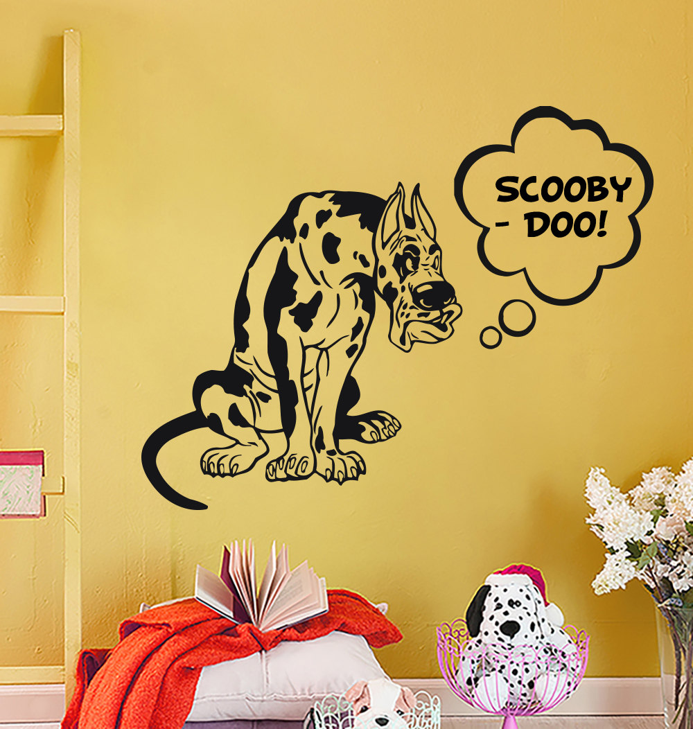 New Arrivng Scooby Doo Quotes Wall Murals With Funny Pet Dog Pattern ...