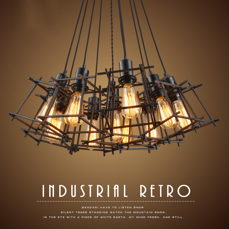 American Loft Vintage pendant light Personality Wrought Iron lights Edison nordic lamp industrial cage lamp lighting fixtures american loft vintage pendant light wrought iron retro hanging lamp edison nordic restaurant light industrial lighting fixtures