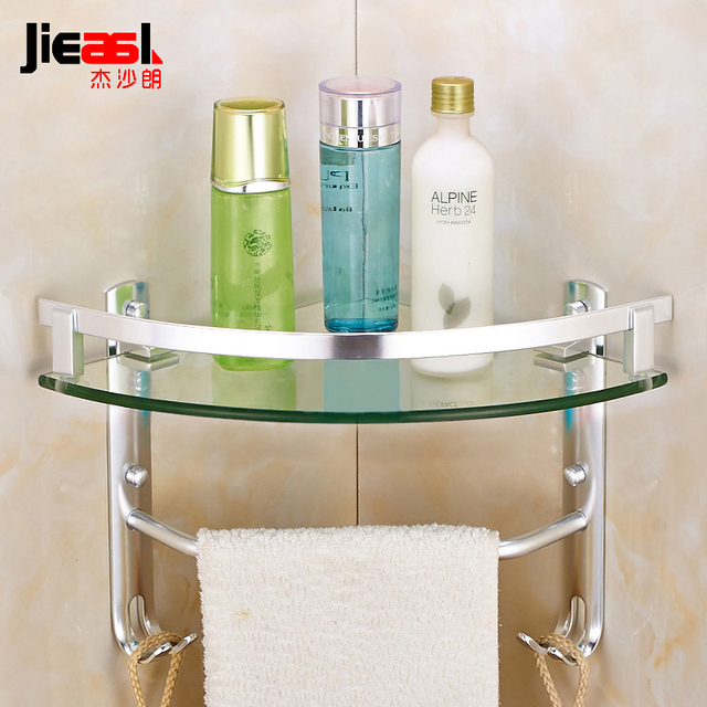 Aliexpress.com : Buy jsl Space Aluminum Single Tier Bathroom Shelves ...