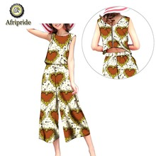 2019 Summer New Bodycon Jumpsuits Women Clubwear Casual Overalls African pants for girl AFRIPEIDE outdoor S1929005