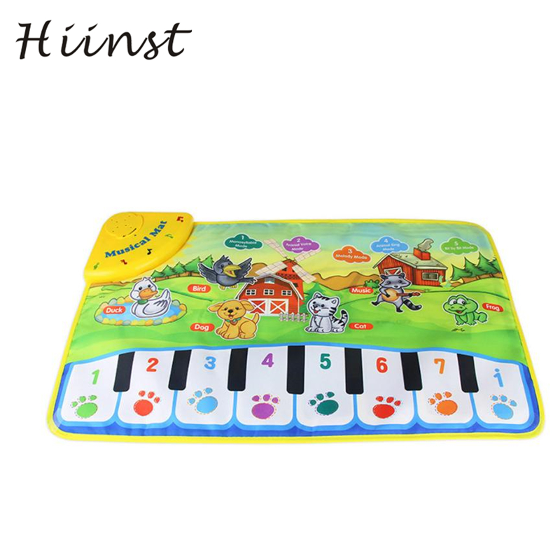 Hot Kids Baby Zoo Animal Musical Touch Play Singing Carpet Mat Toy Drop Shipping Gift 18MAR23