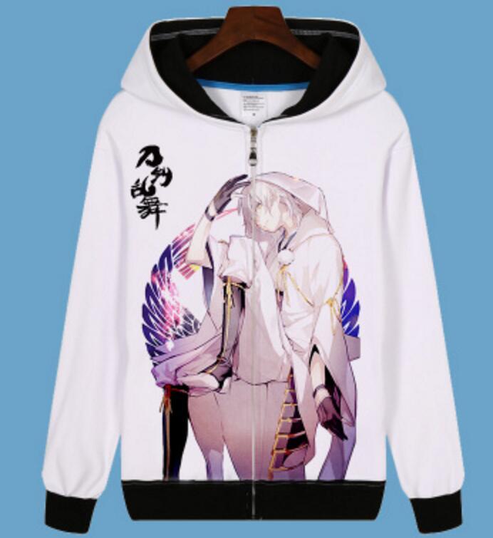 hot Touken Ranbu Online Nakigitsune jacket unisex coat kogitsunemaru game cosplay pullover zipper hoodie