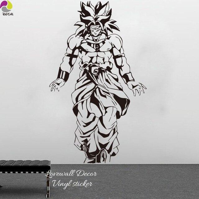 Janpanese kartun stiker dinding kamar anak anak super saiyangohan dragon ball z dbz goku anime
